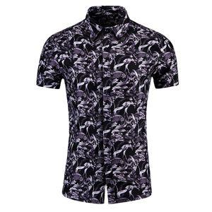 Men Summer Shirts Beach Casual Blouses New Fashion Digital Print Stitching T-shirt Male Hawaiian Short Sleeve streetwear #1.7
