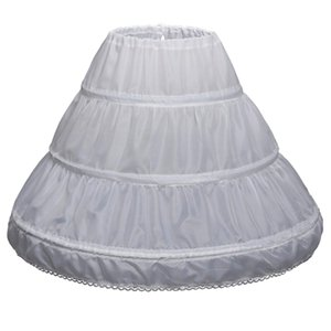 Nuovi Bambini Petticoats 2019 Girls' Petticoats mezzo passo falso Bambine crinolina bianca lungo ragazza di fiore vestito convenzionale Unders Kirt A008