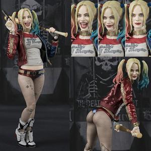 DC Suicídio Squad SHF Harley Quinn PVC Figura de Ação Boneca de Brinquedo de Presente de Aniversário de Natal