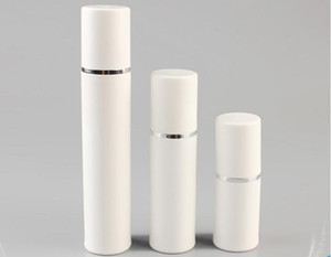 15ml 30ml 50ml Botella de bomba sin aire blanca - Dispensador de crema cosmética recargable de viaje para el cuidado de la piel, envase de embalaje de loción PP SN2251