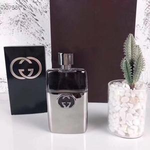 parfum Gulity Parfüm für Männer Same Marke Lemon Aroma Silber Glasflasche 90ml EDT Langlebige mit Kasten Freies Verschiffen