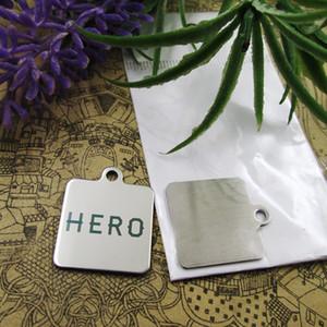 """40pcs - """"Hero"""" charms in acciaio inox più stile per la scelta di fascini DIY dei pendenti per la collana"""