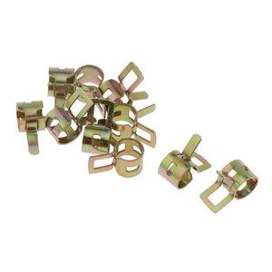 10 clipes Pcs 8 milímetros Primavera - Vacuum Silicone Hose Pipe braçadeira Baixa Pressão de Ar Clipe Grampo