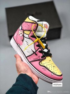 TOP1 womens Basketball shoes pink in a popular and stunned beast pink goose egg yolk body the current hot Sport Designer Sneaker