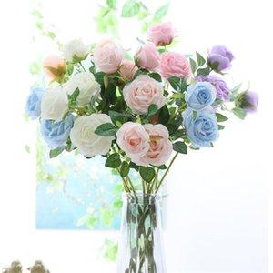 """Faux Core tige courte rose (2 têtes / pièce) 26.77 """"La simulation de longueur Melaleuca roses pour la maison de mariée décorative artificielle fleur"""