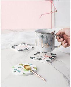 Anti-skid tea cup mat Diatomite Water Absorbing Cup Pad Anti-scalding and heat-insulating mattress Creative Nordic Home