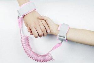 Pulseira de segurança para crianças anti-lost Wrist Link Baby Criança Harness Leash Strap Anti perdido pulseira trelas ajustáveis Crianças andar 4 cores