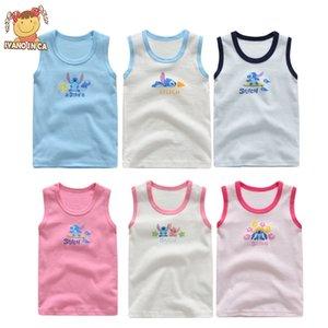 3pcs / set Baby-Behälter 100% Baumwolle Mädchen Junge Unterwäsche Tops Sommer-Weste Mädchen Leibchen Kinder Fest-Unterweste