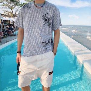 Zeitiges Frühjahr 2020 neue Farbe Blockbuchstaben-Logo Kurzarm T-Shirt Doppelstrang feiner Baumwollstoff schwarz und weiß 18