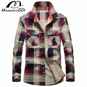 Men's Shirts 2020 Spring Autumn New Male's Slim Fit Dress Shirts Business Male Long Sleeves lattice Casual Turn Down Neck Shirt
