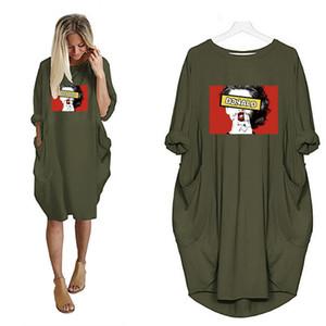 Новое поступление женские дизайнерские футболки длинная длина мода лето свободные дышащие женские ткани DIY печати высокое качество женские топы