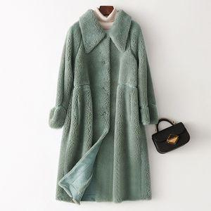 Printemps Automne Manteau Femmes Vêtements 2019 Coréen Vintage Streetwear Laine Veste Moutons Fourrure De Fourrure De Fourrure Femmes Hauts Abrigo Mujer ZT3316