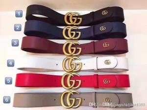 2019TOP Frau Gürtel Frauen hohe Qualität echtes Leder-schwarze und weiße Farbe Designer Kuhfell-Gurt für Frau Luxus-Gurt frei A3816 Versand