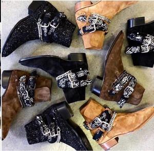 Цепи Boots Корова Suede High топ Western Wyatt Chelse сапоги Мужчины Мартин обувь Размер евро 46
