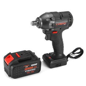Electric Impact Wrench Infinitely Cordless Speed Brushless Impact Electric Wrench 108VF 16800mAh Rechargeable Lithium Battery Y200323