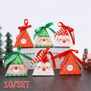 Bandeja de horno pequeño paquete creativo caramelo de la Navidad caja de regalo 10pcs adecuado para el envasado de golosinas dulces chocolates de regalo Caja
