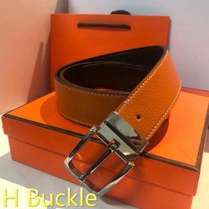H пряжка конструктора пояс Mens и женщины пояс с модой Большой пряжка H Brand Real Leather Top Luxury Designer Ремни