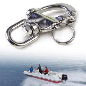 DWCX Nova 7 centímetros de aço inoxidável Heavy Duty pressão manilha D Anel giratória Bail apto para Marine Barco Iate Vela de hardware