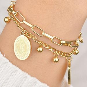 Acero inoxidable Cath Olic Vir Gin pulseras de la joyería Ma Ry Diseñador pulsera Pour Hommes Bijoux de Créateurs De Luxe Femmes pulseras
