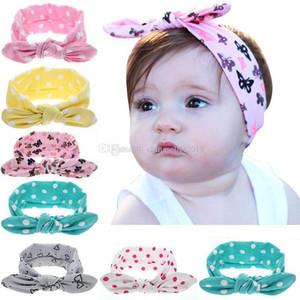 Bébé nourrisson Top Knot Bandeau filles dot Turban Hairband élastique Nouveau-né bébé mignon Headwrap enfants Accessoires cheveux