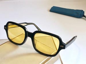 새로운 패션 디자이너 선글라스 0072S 크기 사각형 프레임 아방가르드 인기있는 복고풍 스타일의 밝은 색상 장식 선글라스 인기있는 스타일 0072