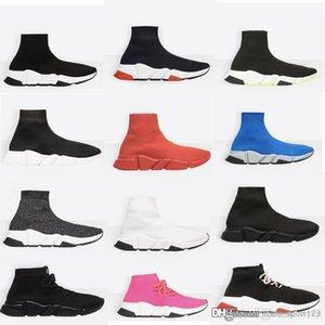 2019 designer men women Speed Trainer Luxury Sock Shoes black white red glitter Flat fashion mens Trainers Runner size 36-45