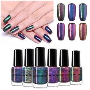 NICOLE DIARY 6ml Vernis à Ongles Peel-off Rainbow Pearl Nail Art à base d'Eau Laque Manucure Art Décoration Vernis Vernis