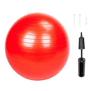 55 centímetros Yoga Bola Gym Fitness Fitball Exercício Gym Household à prova de explosão Thicken superfície lisa Red