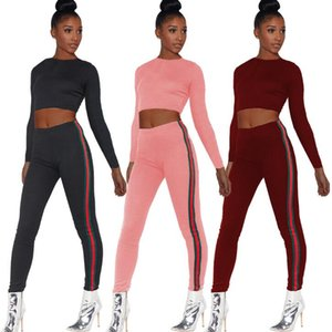 2019 aape New Women Cotton Tracksuit Set Slim Fit Two-Piece Gym Yoga Clothes Tops Pants Fashion Short Sleeve Hooded Crop Hoodie Jogger Pants