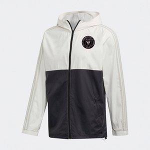 Inter Miami CF jacket hoodie Windbreaker tracksuits mens soccer jerseys Active windbreaker hoodies football sports winter coat Men's Jackets