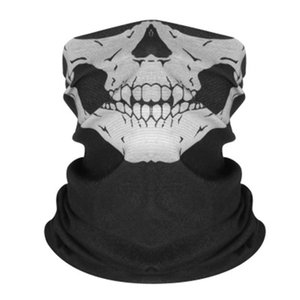 New Unisex Cheap Bandana Seamless Headwear Skull Scarf Elastic Magic Headband Neck Tube UV Head Wear Band Wrap Outdoor Fish Face Mask#740