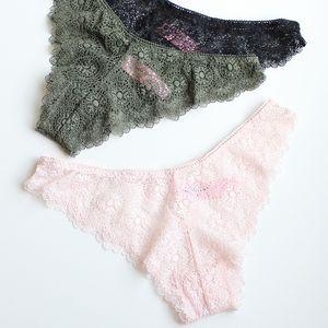 Voplidia Women Underwear Briefs sexy Women Panties 2020 VS Transparent Lace Seamless Tanga Plus Size Underwear Panty PM212