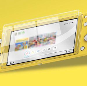 2xPC templado para Nintendo Lite Interruptor NX cristal ultra claro de la pantalla Full HD película protectora de superficie de protección cubierta del protector