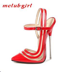 MCLUBGIRL Nightclubs Metal Steel Pipe Dance Super High Heels Sale Shoes Womens Shoes Sexy Club High Heels Pumps WZ Y200702