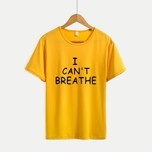 Mens Casual T-shirts Womens Fashion Print Summer T-shirts 2020 New I CAN'T BREATHE Youth Solid Color Print Outdoorwear Hot Selling