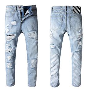2020 new Mens Designer Jeans Men Slim Fit Denim Solid Color Hip Hop Jeans Jogger Jeans