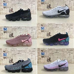 Erkek Laceless Çok renkli Üçlü Siyah Releasing 2018 Moc buharlar 2.0Kadınlar Spor Eğitmenler Spor ayakkabılar # 329 için vapormax Beyaz Koşu Ayakkabı