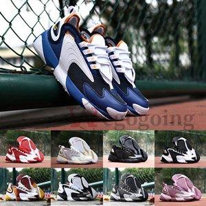 2020 Erkekler Yakınlaştırma 2K Sports Sneakers Siyah Beyaz Mavi ZM 2000 Kadın Tasarımcı Eğitmen M2K Tekno Moda çalışan Ayakkabı Rahat Açık Ayakkabı