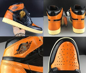 HOT designer shoes Backboard 1 Basketball Shoes Shattered Mens high quality luxury Sneakers women unisex Chicago High OG Trainers Shoes