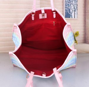Designer Handbag Totes With Matching Pouch Luxury Womens Pastel Bag Summer Escale Tote Unicorn Purse Pastel Fashion