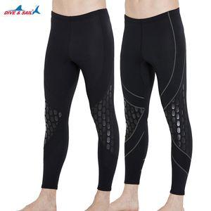 Mens 1.5mm Nero muta in neoprene pantaloni Immersioni Canottaggio Vela Piscina acqua calda Pantaloni Leggings per Surf Rashguard Collant J
