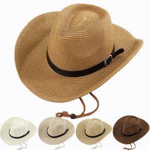 Sun For Women Men Summer Hat Beach Hats & Caps Hats, Scarves & Gloves Raffia Straw Hat Block PU Leahater Strap Casual Big Wide Brim Summer H