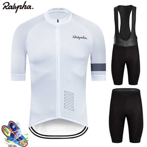 2020 rapha manica corta ciclismo Set Man Cycling Jersey biciclette Abbigliamento Kit Mtb Bike Wear Triathlon Uniforme