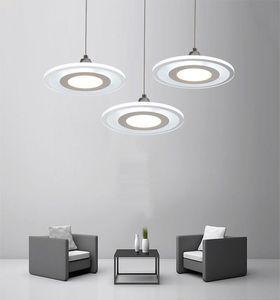 Moderno lampadario a led minimalista ristorante camera da letto soggiorno rotondo acrilico lampada ufficio bar lampadario lampada a sospensione creativa