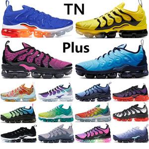 2020 Nuevos TN azul más los hombres los zapatos corrientes actuales de luz negro uva blanca activa fucsia EE.UU. abejorro obsidiana fotos deportivas azules zapatillas de deporte