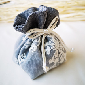 30pcs Packaging Gift Bags Cloth Gift Bag High Quality Thickened Drawstring Candy Dragees for Wedding Craft Packages Flower Box