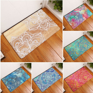 Print Non-slip Absorbent Bedroom Floor Shaggy Dust Doormat Foam Mat Bath Bathroom Rug