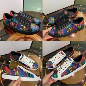 design de luxe de la mode haute main mickey marque hommes L'os en cuir véritable pied respirant Set chaussures de sport de loisirs de taille 38 ~ 46