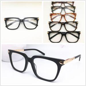 Nuovo superiore di disegno di marca Montature donne degli uomini annata di modo degli occhiali di Spectacle Plank Glasses Eyewear occhiali 0129