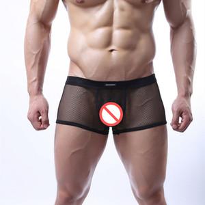 Sıcak En Kaliteli şeffaf ağ seksi erkek boksörler şort eşcinseller seks Iç çamaşırı yetişkin oyunu külot Erotik Iç çamaşırı çiftler Için